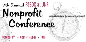 7th annual fsbdc at unf nonprofit conference banner