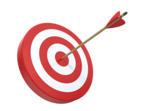 Target with arrow in center